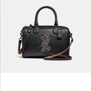 Coach Disney X Minnie Black Mini Bennett Satchel